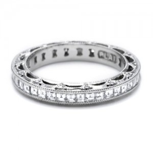 Tacori HT2509B Platinum Wedding Band