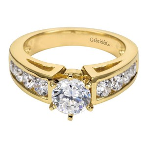 Gabriel 14 Karat Contemporary Engagement Ring ER1707M44JJ