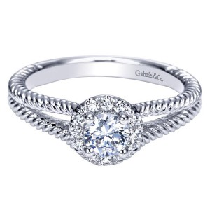 Gabriel 14 Karat Contemporary Engagement Ring ER98653W44JJ