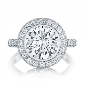 HT2614RD10 Platinum Tacori RoyalT Engagement Ring