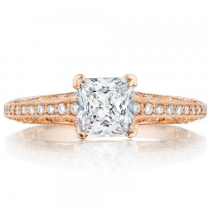 Tacori 2616PR55PK 18 Karat Pretty In Pink Engagement Ring