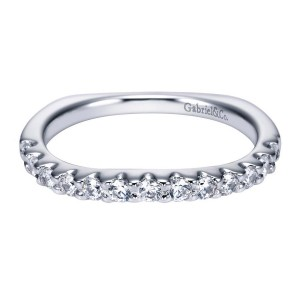 Gabriel 14 Karat Contemporary Wedding Band WB4020W44JJ