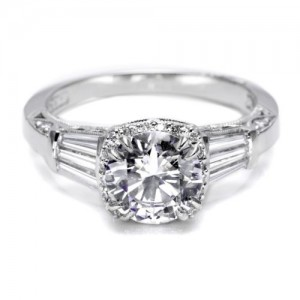 Tacori Dantela Platinum Engagement Ring 2625RD75