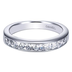 Gabriel 14 Karat Contemporary Wedding Band WB3964W44JJ