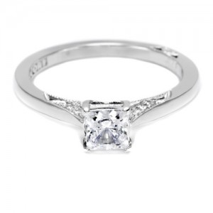 Tacori Dantela Platinum Engagement Ring 2638PR55