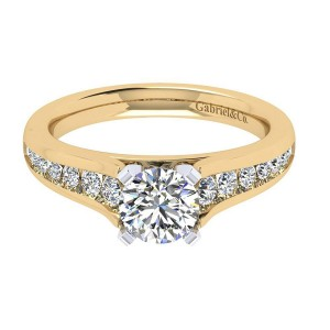 Gabriel 14 Karat Contemporary Engagement Ring ER6664M44JJ