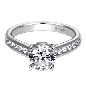 Gabriel 14 Karat Contemporary Engagement Ring ER8191W44JJ