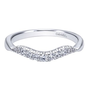 Gabriel 14 Karat Contemporary Wedding Band WB10292W44JJ