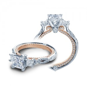 Verragio Couture-0423DP-TT Platinum Engagement Ring