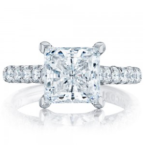 HT254625PR8 Platinum Tacori Petite Crescent Engagement Ring