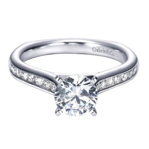 Gabriel 14 Karat Contemporary Engagement Ring ER6640W44JJ