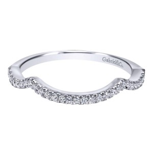 Gabriel 14 Karat Contemporary Wedding Band WB7543W44JJ