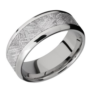 Lashbrook CC8B15(NS)/METEORITE Cobalt Chrome Wedding Ring or Band