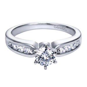 Gabriel 14 Karat Contemporary Engagement Ring ER2294W44JJ