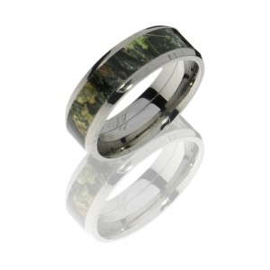 Lashbrook CAMO8B15-MOSSYOAK POLISH Camo Wedding Ring or Band