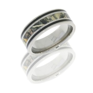 Lashbrook CAMO8F1321A-RTAP POLISH Camo Wedding Ring or Band