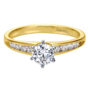 Gabriel 14 Karat Contemporary Engagement Ring ER2150M44JJ
