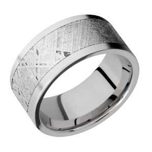 Lashbrook 10F17/METEORITE Titanium Wedding Ring or Band