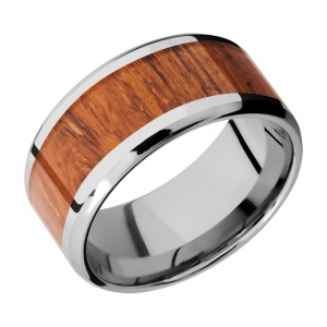 Lashbrook CC10B17(NS)/HARDWOOD Cobalt Chrome Wedding Ring or Band