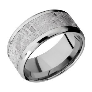 Lashbrook CC10B17(NS)/METEORITE Cobalt Chrome Wedding Ring or Band