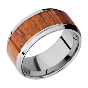Lashbrook CC10B17(S)/HARDWOOD Cobalt Chrome Wedding Ring or Band