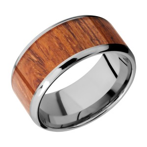 Lashbrook CC10B18(NS)/HARDWOOD Cobalt Chrome Wedding Ring or Band