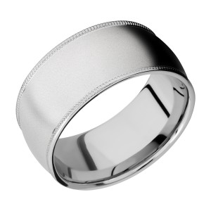 Lashbrook CC10DMIL Cobalt Chrome Wedding Ring or Band