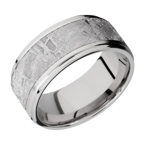 Lashbrook CC10FGE17/METEORITE Cobalt Chrome Wedding Ring or Band