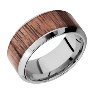 Lashbrook CC10HB17/HARDWOOD Cobalt Chrome Wedding Ring or Band