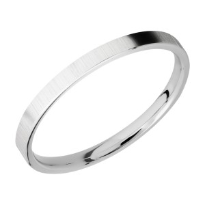 Lashbrook CC2FR Cobalt Chrome Wedding Ring or Band