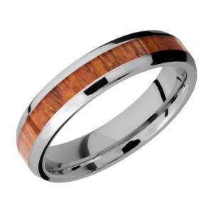 Lashbrook CC5B13(NS)/HARDWOOD Cobalt Chrome Wedding Ring or Band