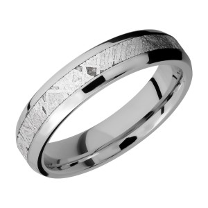 Lashbrook CC5B13(NS)/METEORITE Cobalt Chrome Wedding Ring or Band