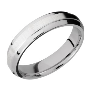 Lashbrook CC5B(S) Cobalt Chrome Wedding Ring or Band