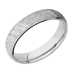 Lashbrook CC5D14/METEORITE Cobalt Chrome Wedding Ring or Band