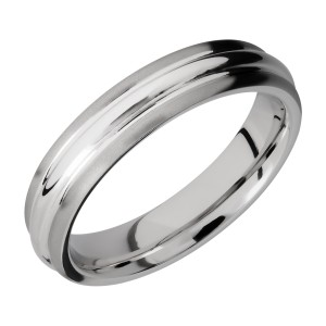 Lashbrook CC5DD Cobalt Chrome Wedding Ring or Band