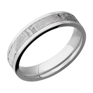 Lashbrook CC5F13/METEORITE Cobalt Chrome Wedding Ring or Band