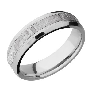 Lashbrook CC6B13(NS)/METEORITE Cobalt Chrome Wedding Ring or Band