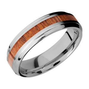 Lashbrook CC6B13(S)/HARDWOOD Cobalt Chrome Wedding Ring or Band