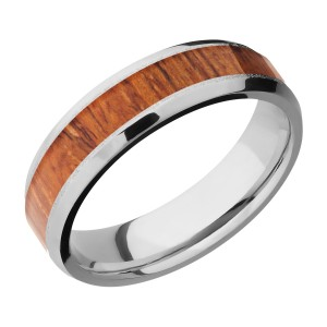 Lashbrook CC6B14(NS)/HARDWOOD Cobalt Chrome Wedding Ring or Band