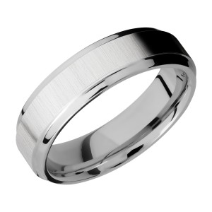 Lashbrook CC6B(S) Cobalt Chrome Wedding Ring or Band