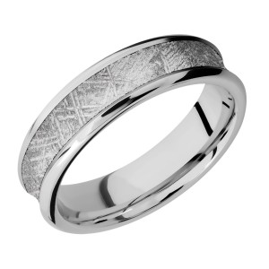 Lashbrook CC6CB14/METEORITE Cobalt Chrome Wedding Ring or Band