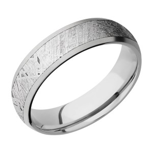 Lashbrook CC6D14/METEORITE Cobalt Chrome Wedding Ring or Band
