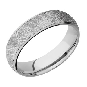 Lashbrook CC6D15/METEORITE Cobalt Chrome Wedding Ring or Band