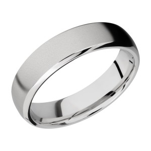 Lashbrook CC6DB Cobalt Chrome Wedding Ring or Band