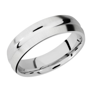 Lashbrook CC6DC Cobalt Chrome Wedding Ring or Band