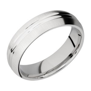 Lashbrook CC6DD Cobalt Chrome Wedding Ring or Band