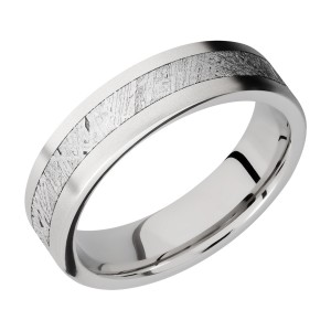 Lashbrook CC6F13/METEORITE Cobalt Chrome Wedding Ring or Band