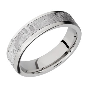 Lashbrook CC6F14/METEORITE Cobalt Chrome Wedding Ring or Band