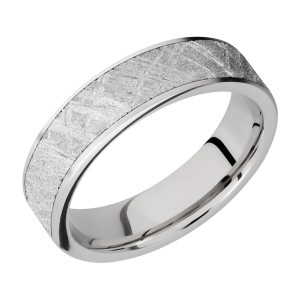 Lashbrook CC6F15/METEORITE Cobalt Chrome Wedding Ring or Band