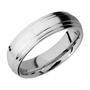 Lashbrook CC6F2S Cobalt Chrome Wedding Ring or Band